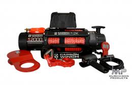 Carbon 12K 12000lb Electric Winch with Synthetic Rope