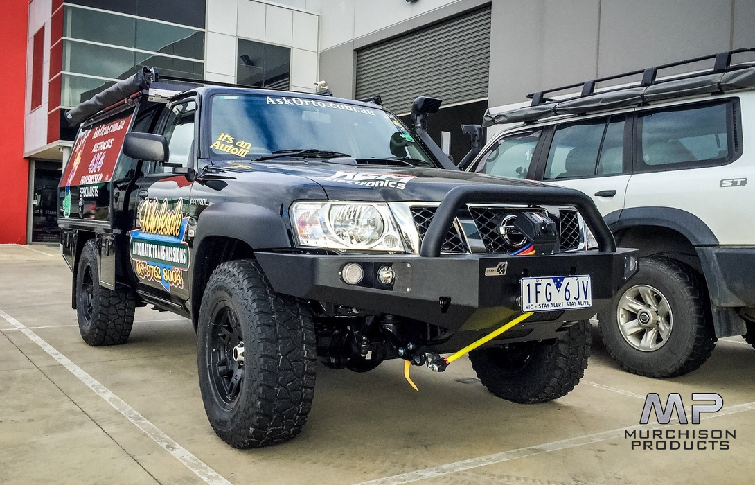 Uneek 4x4 Nissan Patrol Gu Bull Bar 1998 2015 Murchison Products 07 3205 5011 Brisbane Jeep Ram Service Centre And Aftermarket Parts Specialists